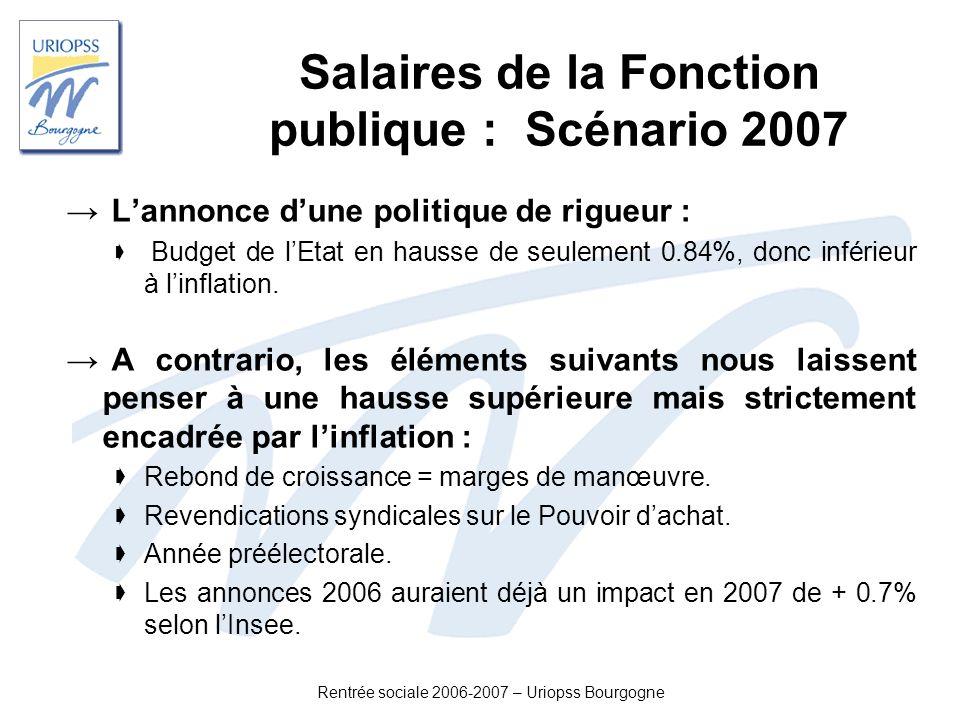 Salaires de la Fonction publique : Scénario 2007
