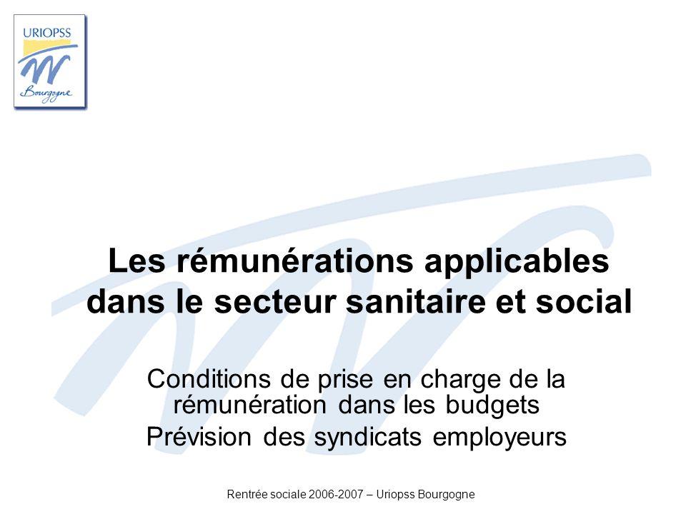 Les rémunérations applicables dans le secteur sanitaire et social