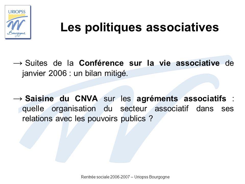 Les politiques associatives