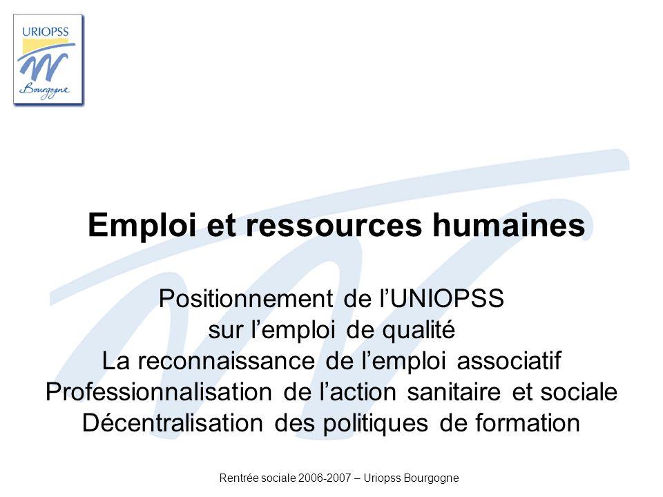 Emploi et ressources humaines