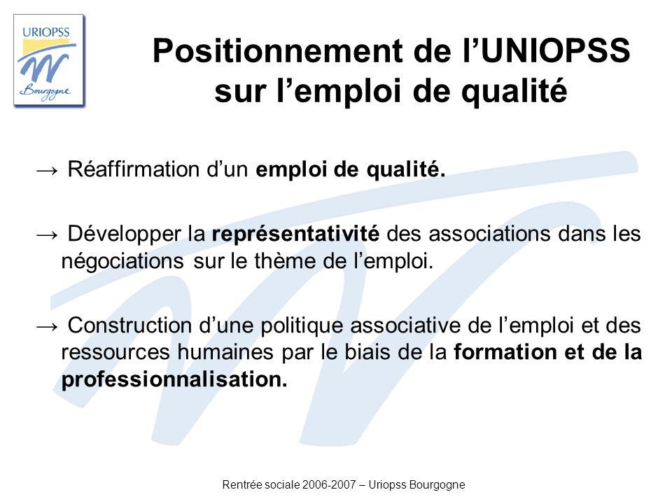 Positionnement de l'UNIOPSS sur l'emploi de qualité