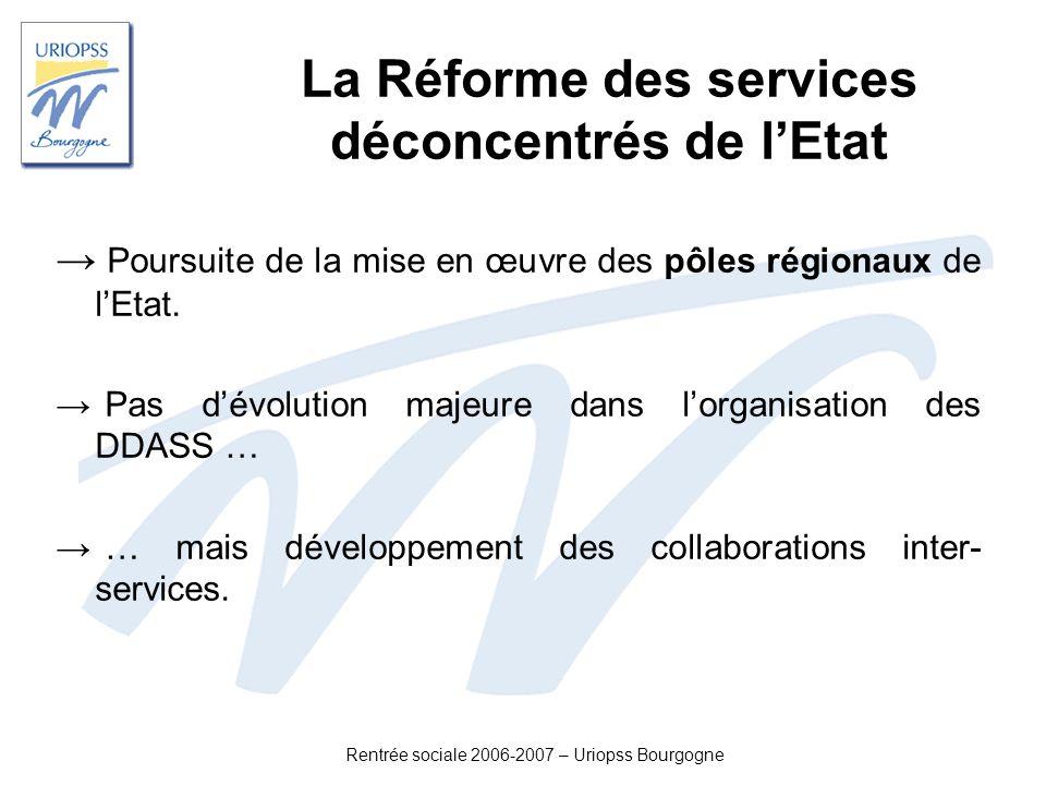 La Réforme des services déconcentrés de l'Etat