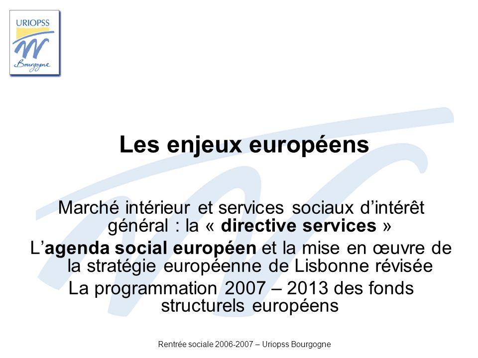 Les enjeux européens