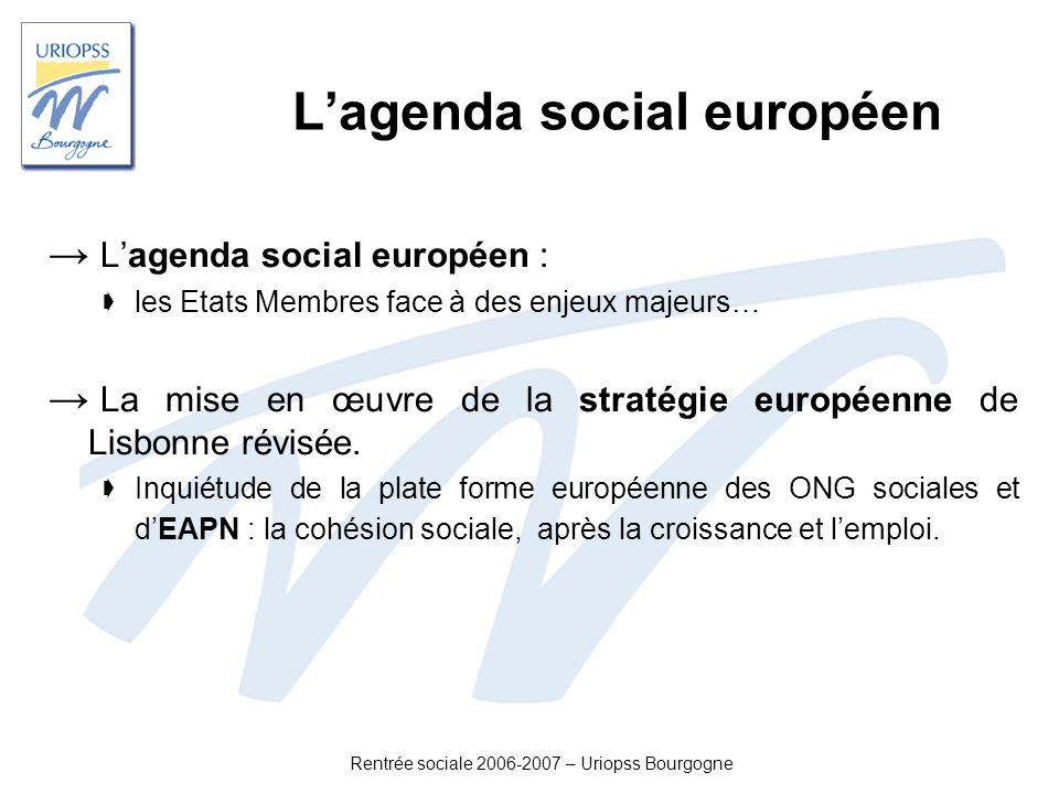 L'agenda social européen