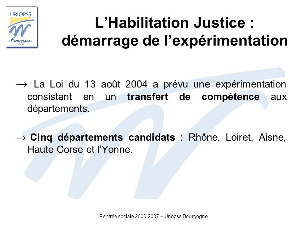L'Habilitation Justice : démarrage de l'expérimentation