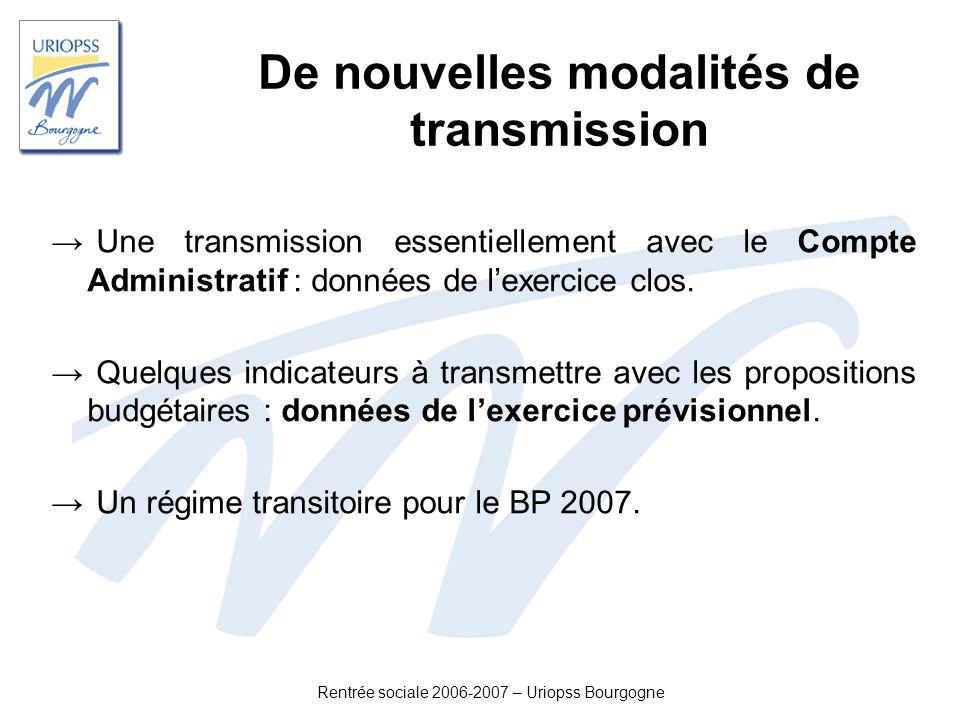 De nouvelles modalités de transmission