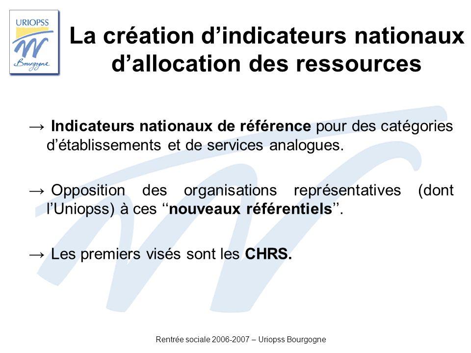 La création d'indicateurs nationaux d'allocation des ressources