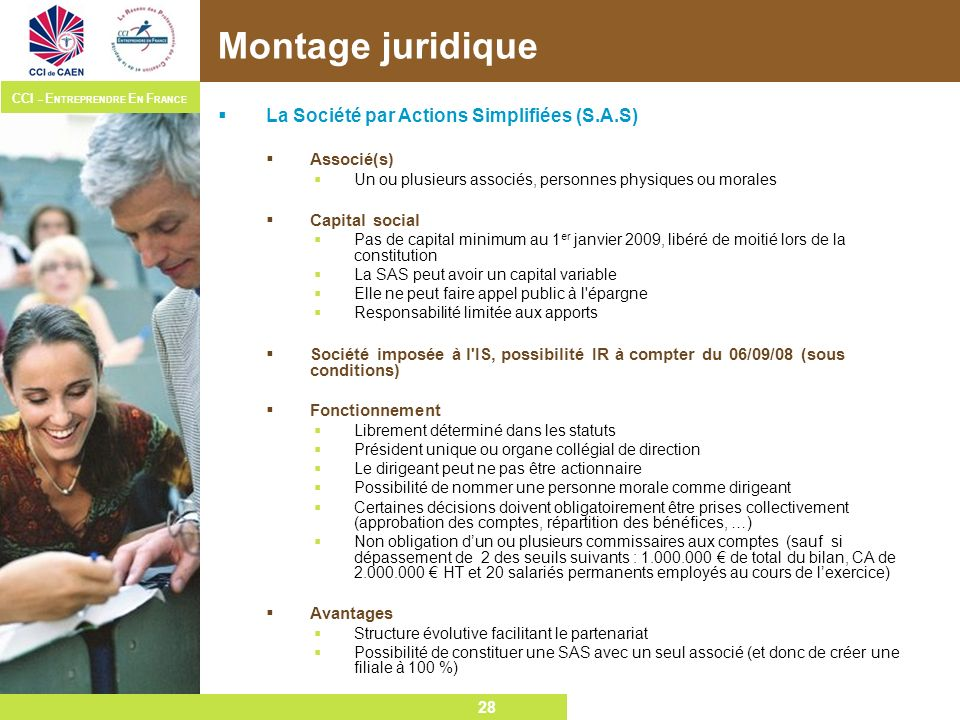 Montage juridique La Société par Actions Simplifiées (S.A.S)