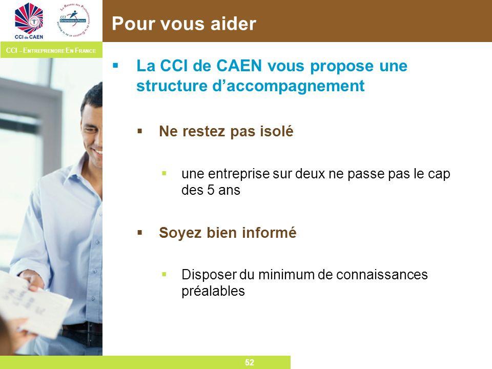 Pour vous aider La CCI de CAEN vous propose une structure d'accompagnement. Ne restez pas isolé.