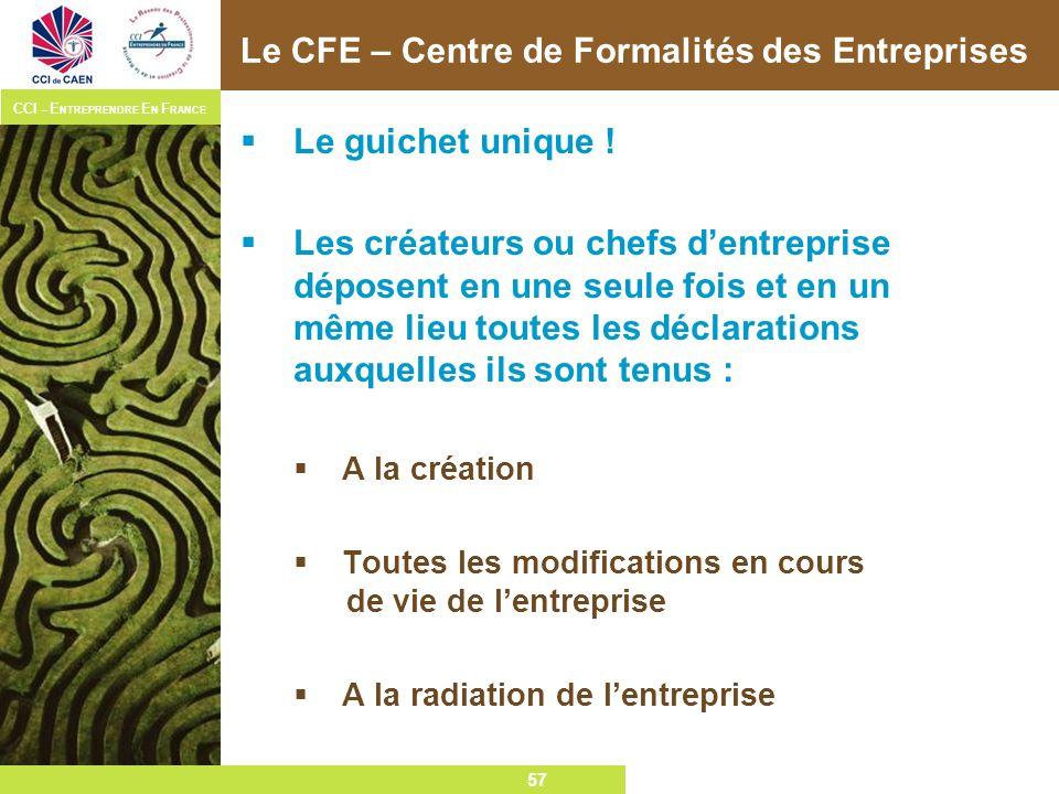 Le CFE – Centre de Formalités des Entreprises