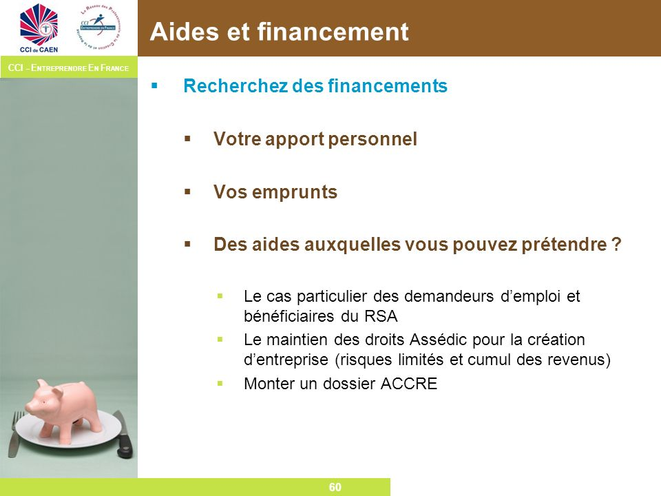 Aides et financement Recherchez des financements