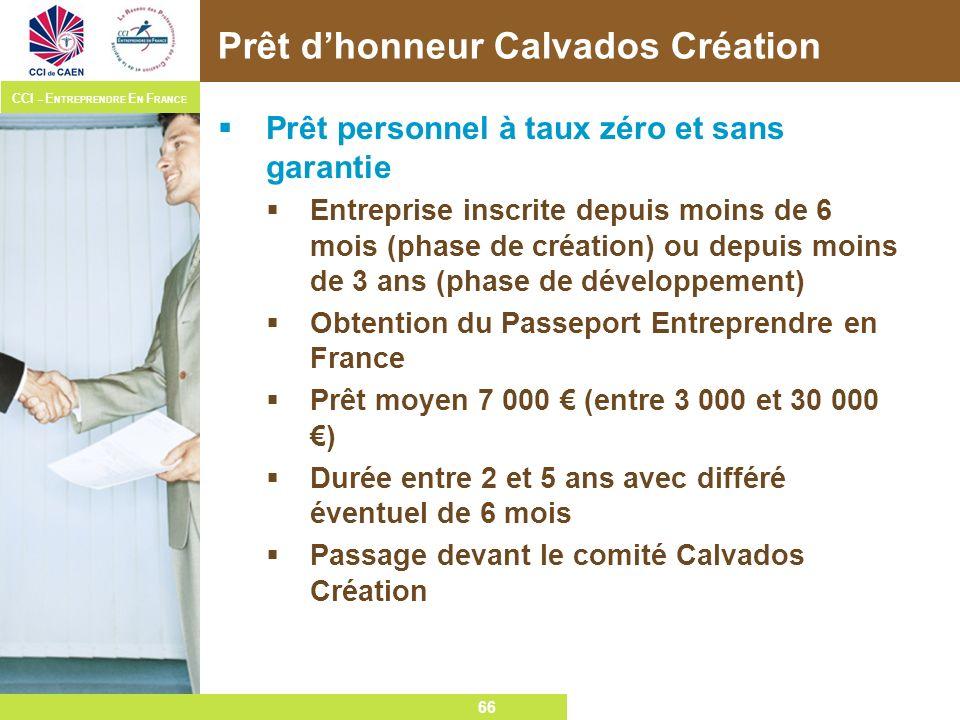 Prêt d'honneur Calvados Création