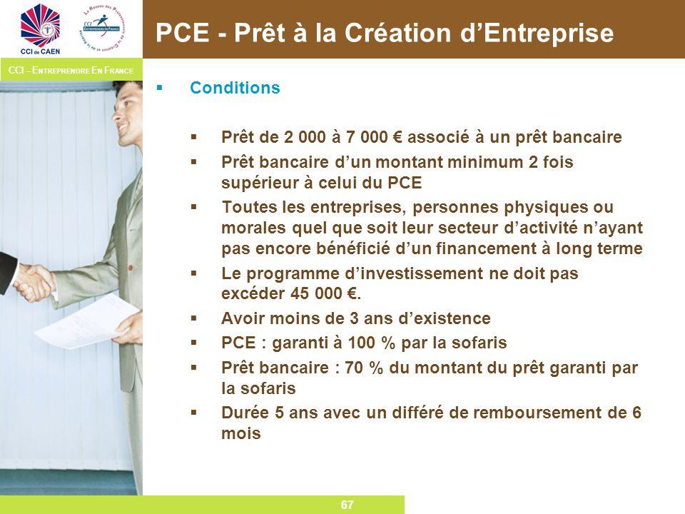 PCE - Prêt à la Création d'Entreprise