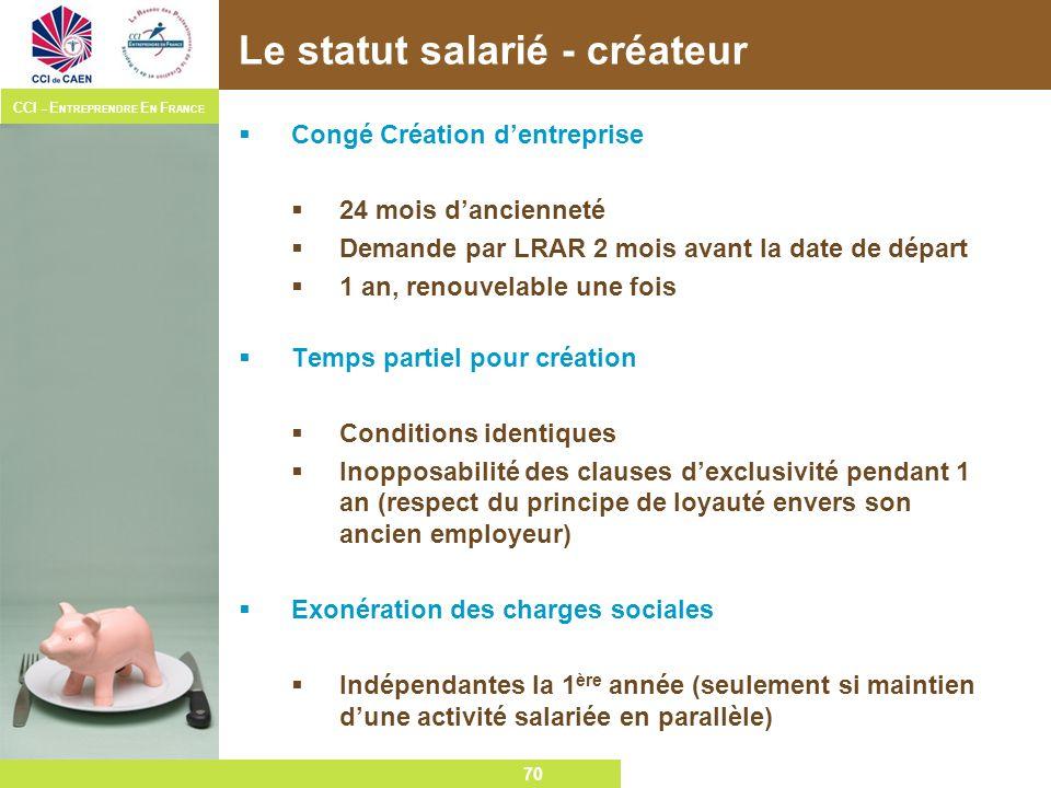 Le statut salarié - créateur