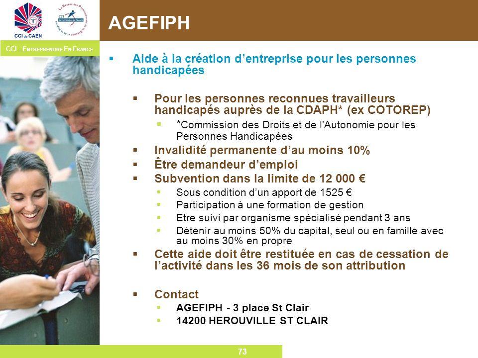 AGEFIPH Aide à la création d'entreprise pour les personnes handicapées
