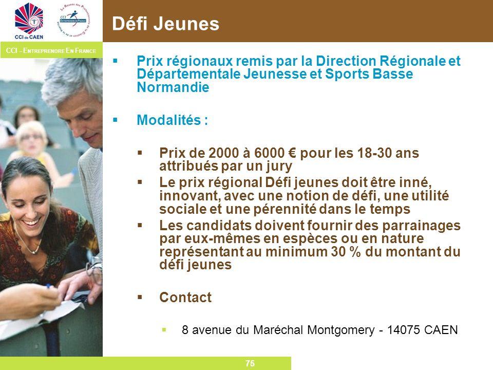 Défi Jeunes Prix régionaux remis par la Direction Régionale et Départementale Jeunesse et Sports Basse Normandie.