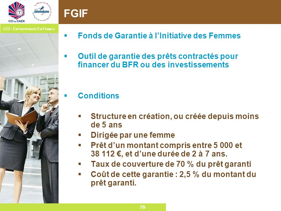 FGIF Fonds de Garantie à l'Initiative des Femmes