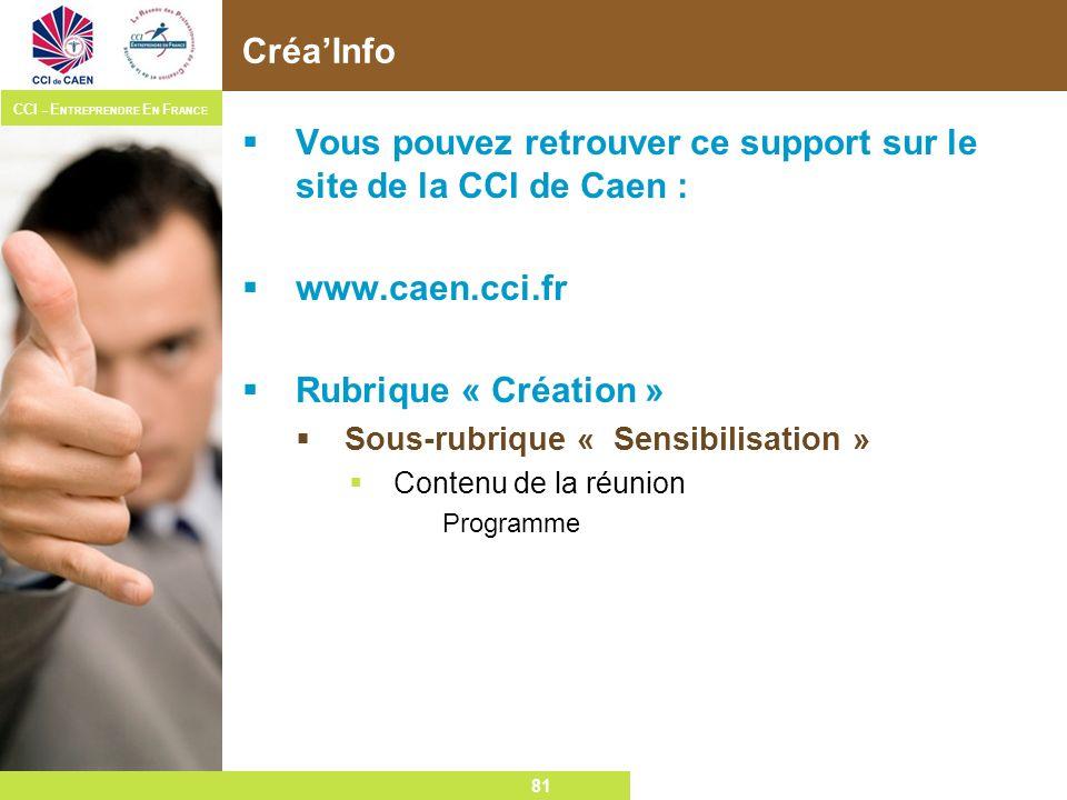 Vous pouvez retrouver ce support sur le site de la CCI de Caen :