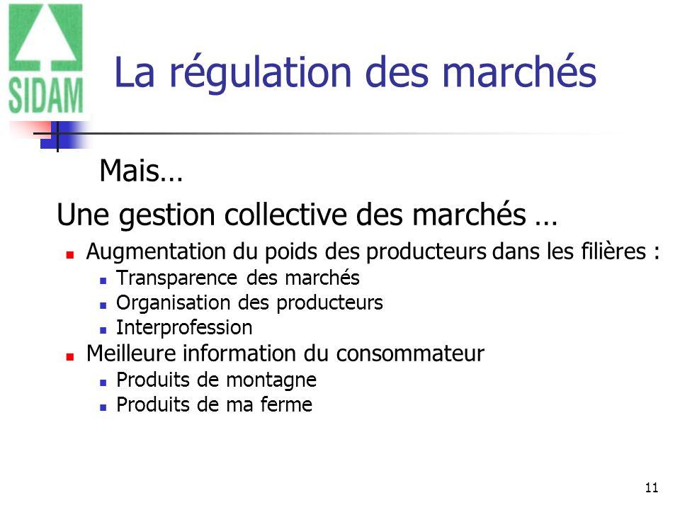 La régulation des marchés