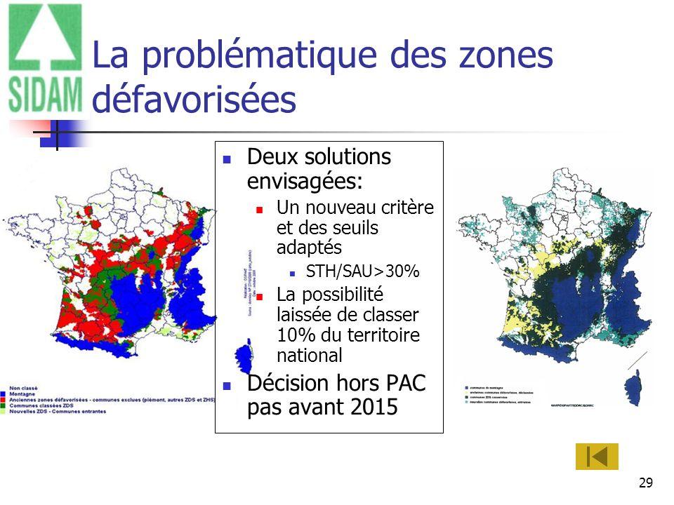 La problématique des zones défavorisées