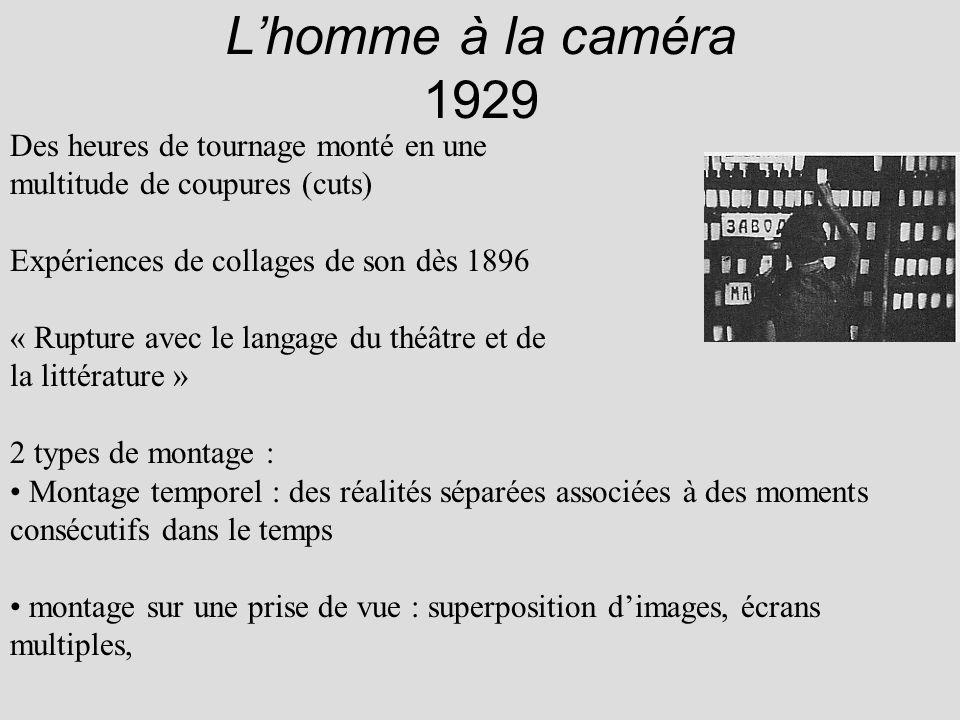 L'homme à la caméra 1929 Des heures de tournage monté en une