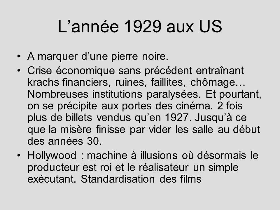 L'année 1929 aux US A marquer d'une pierre noire.
