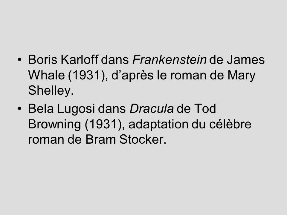 Boris Karloff dans Frankenstein de James Whale (1931), d'après le roman de Mary Shelley.