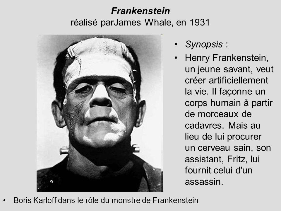 Frankenstein réalisé parJames Whale, en 1931