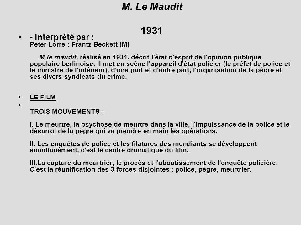 M. Le Maudit 1931