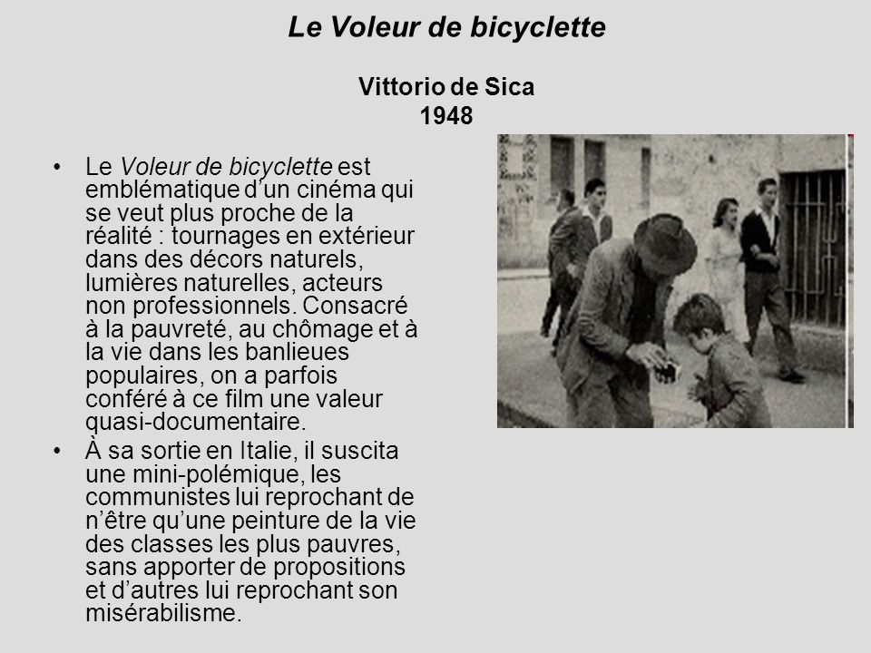 Le Voleur de bicyclette Vittorio de Sica 1948