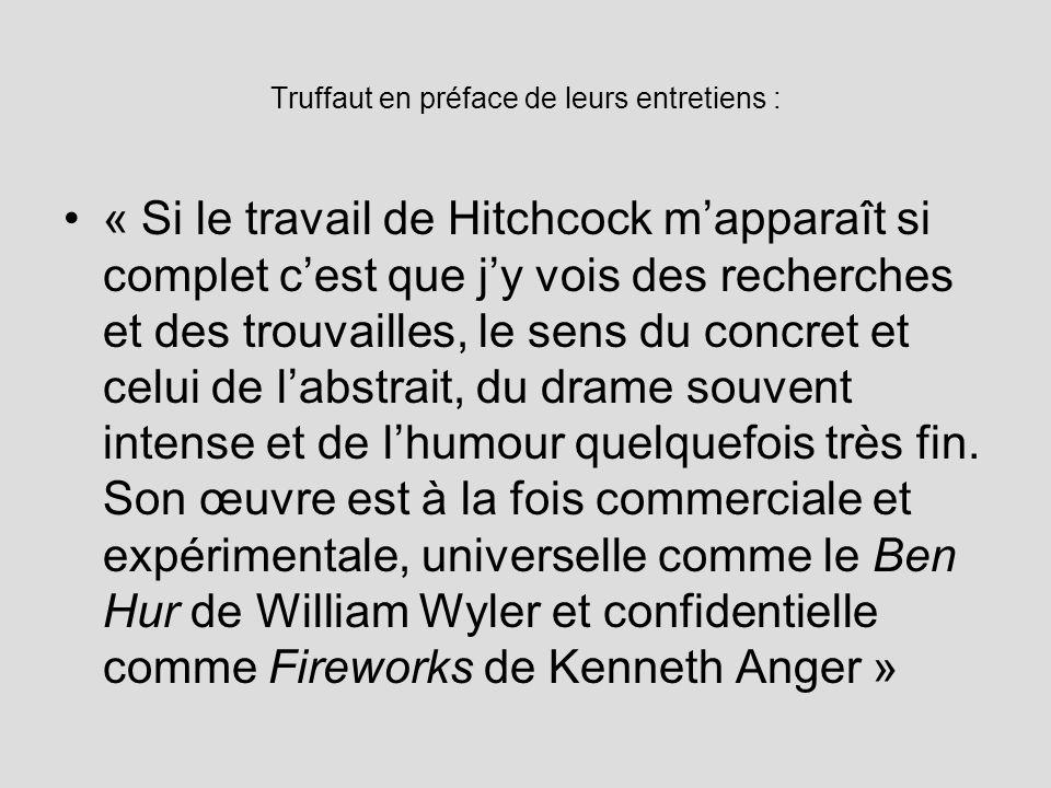 Truffaut en préface de leurs entretiens :
