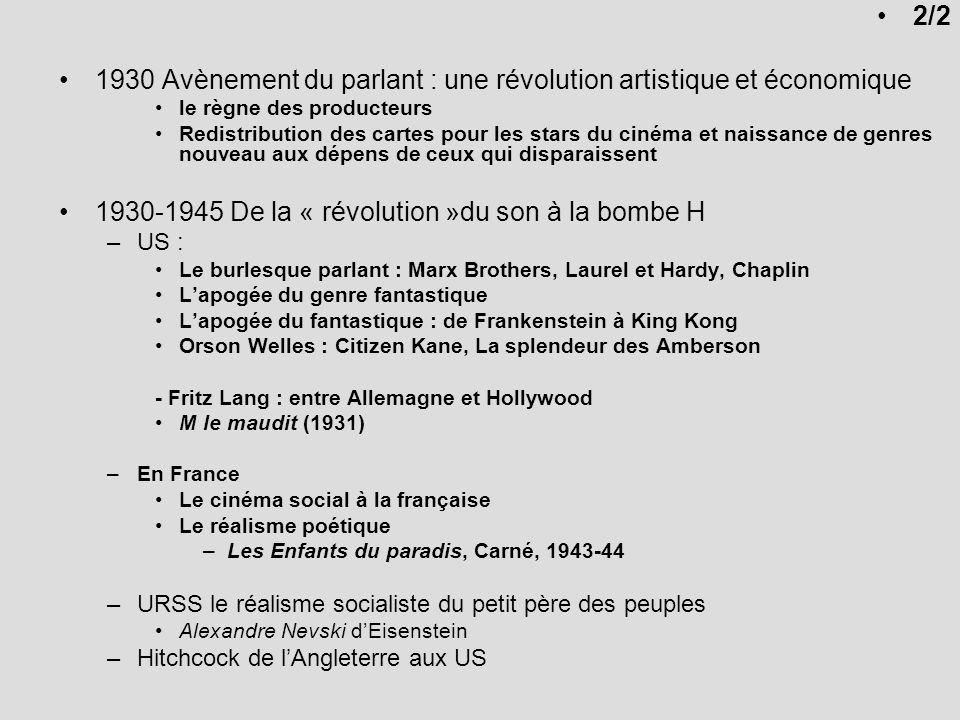 1930 Avènement du parlant : une révolution artistique et économique