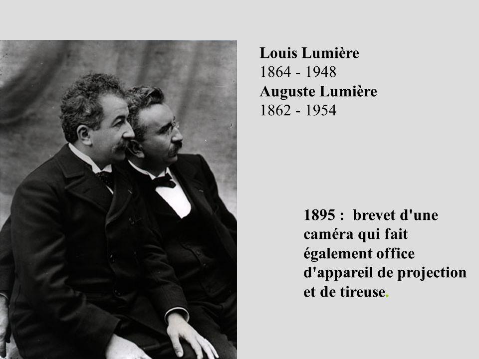Louis Lumière 1864 - 1948. Auguste Lumière. 1862 - 1954.