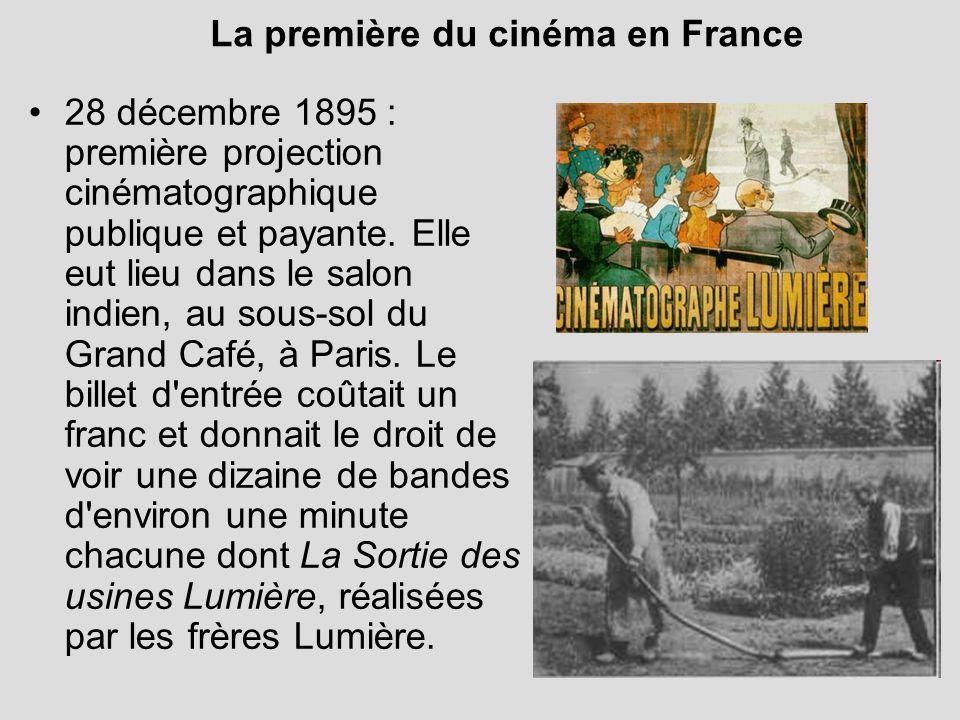 La première du cinéma en France