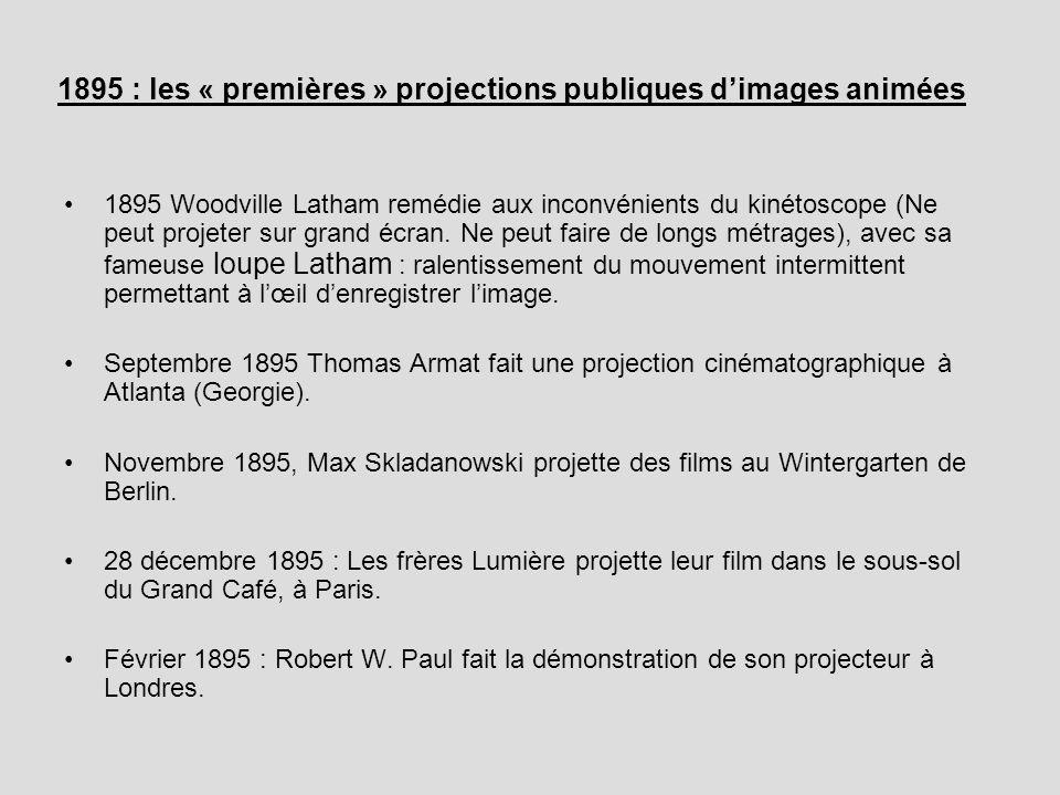 1895 : les « premières » projections publiques d'images animées