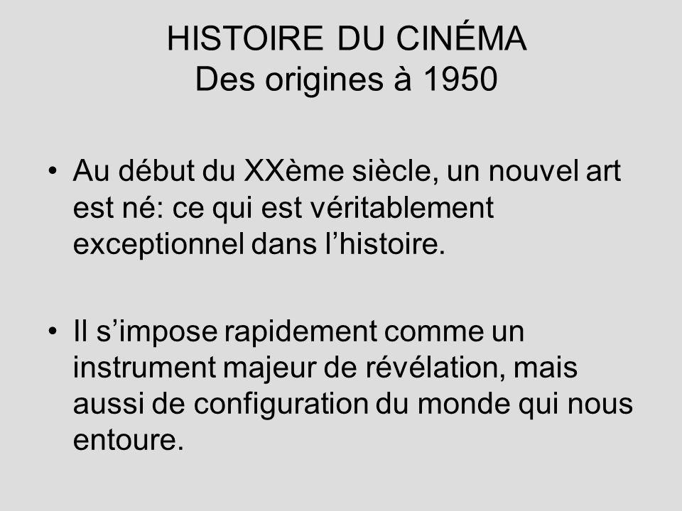HISTOIRE DU CINÉMA Des origines à 1950