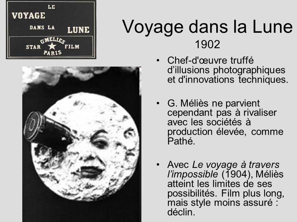 Voyage dans la Lune 1902 Chef-d œuvre truffé d'illusions photographiques et d innovations techniques.