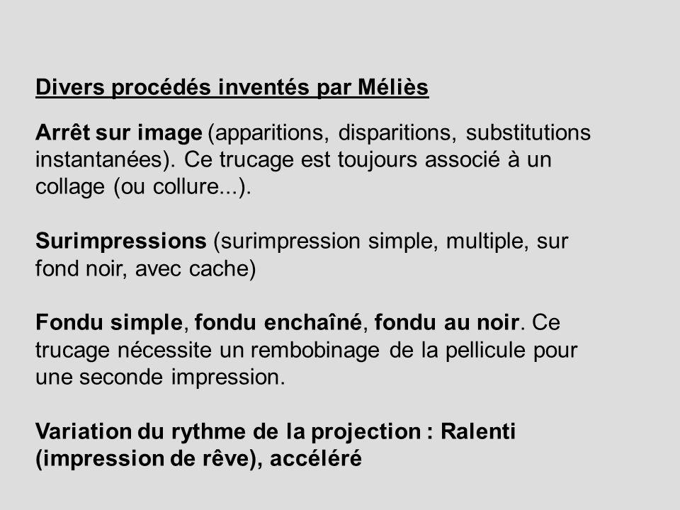 Divers procédés inventés par Méliès