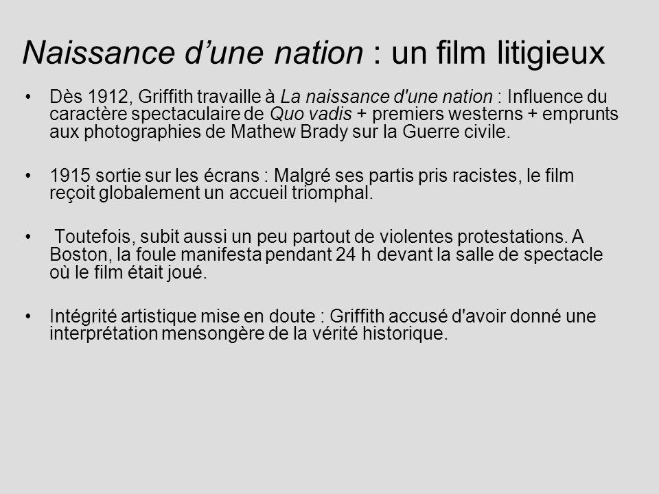 Naissance d'une nation : un film litigieux