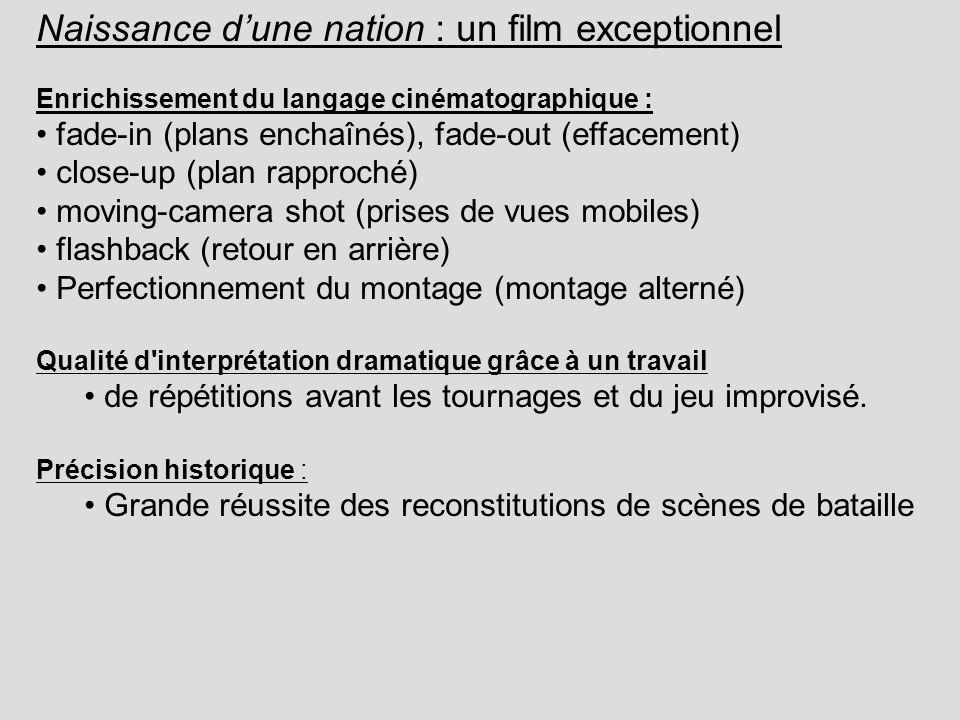 Naissance d'une nation : un film exceptionnel