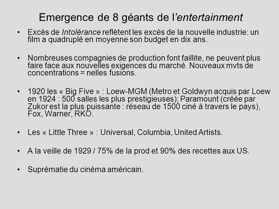 Emergence de 8 géants de l'entertainment