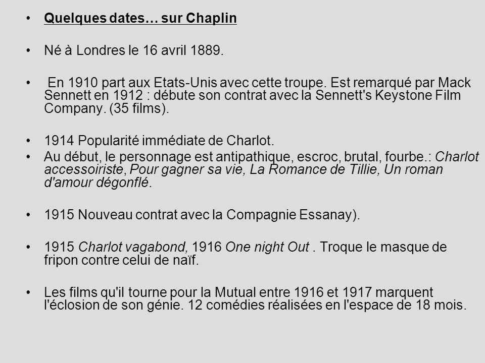 Quelques dates… sur Chaplin