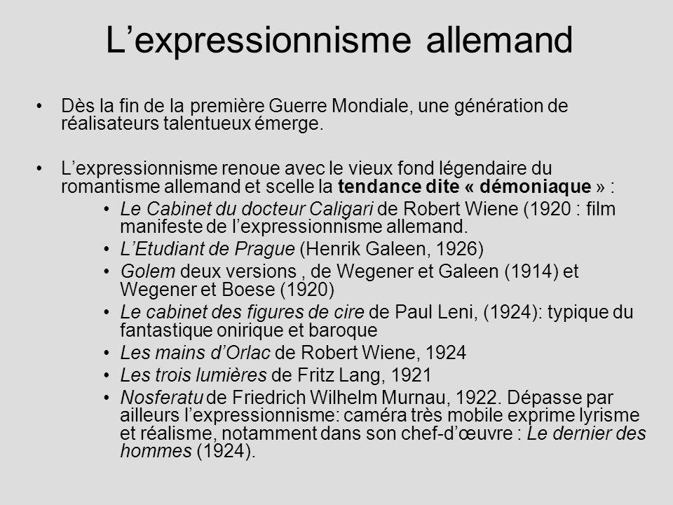 L'expressionnisme allemand