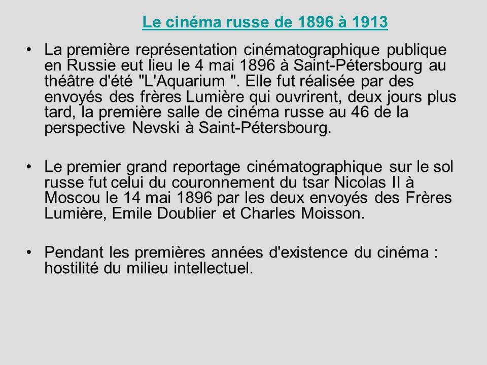 Le cinéma russe de 1896 à 1913