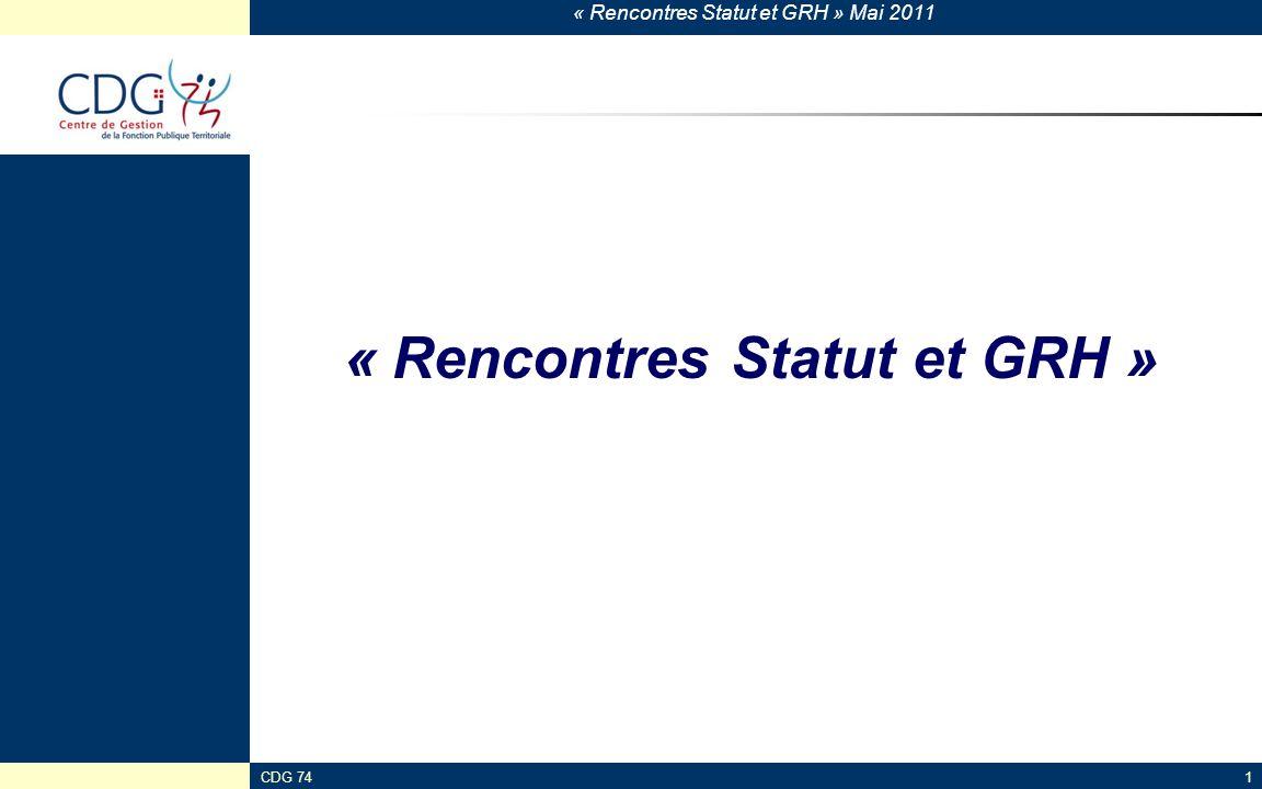 « Rencontres Statut et GRH »