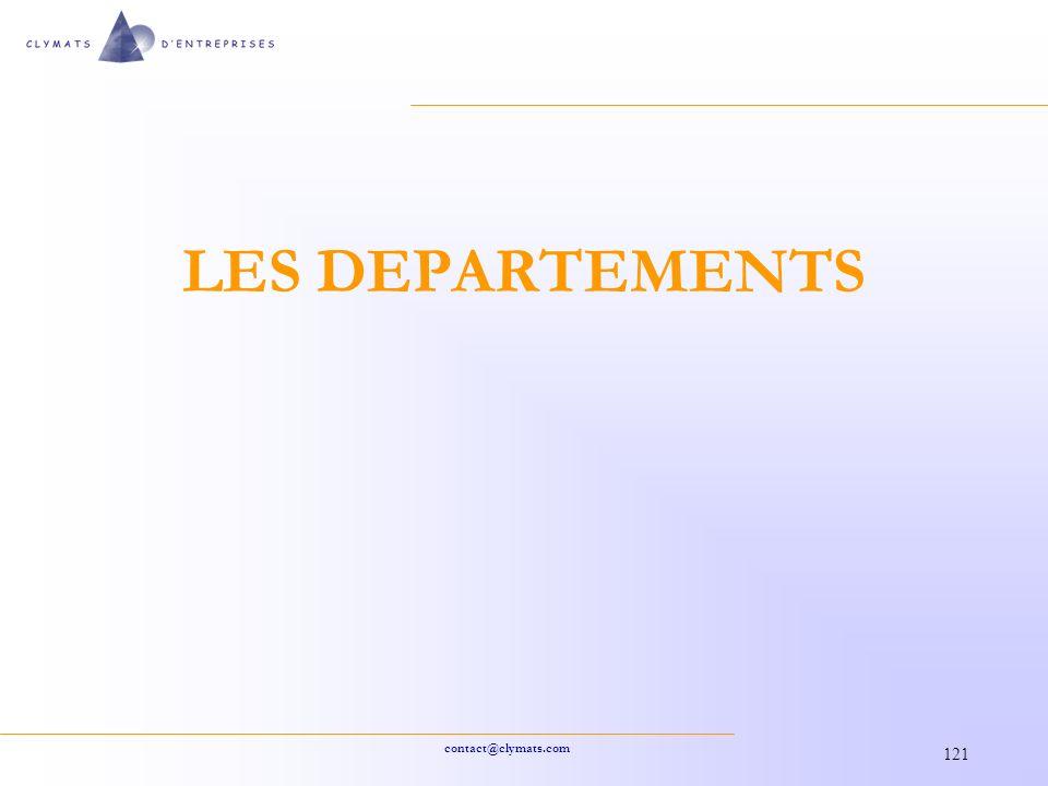 LES DEPARTEMENTS