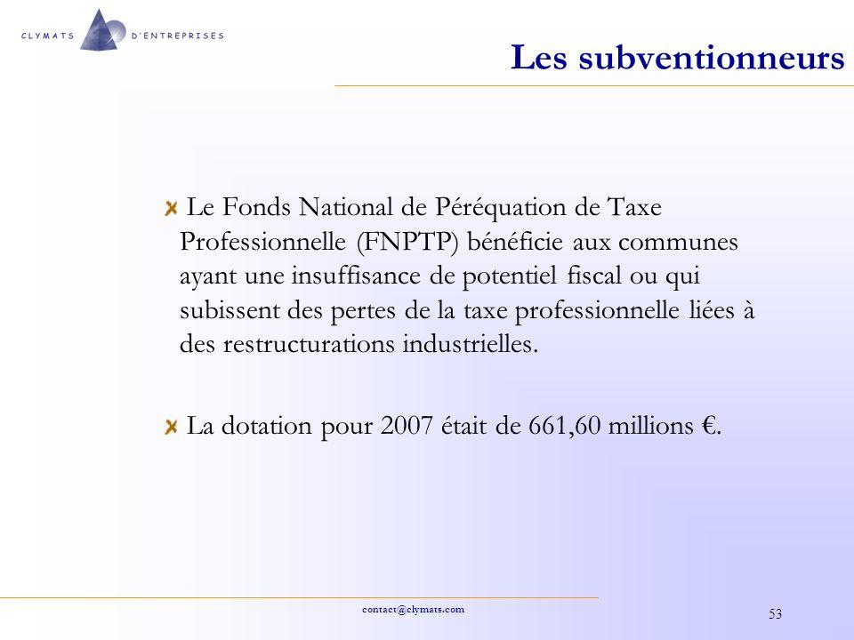 Les subventionneurs