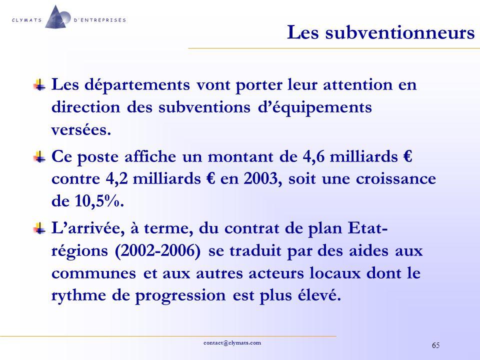 Les subventionneurs Les départements vont porter leur attention en direction des subventions d'équipements versées.