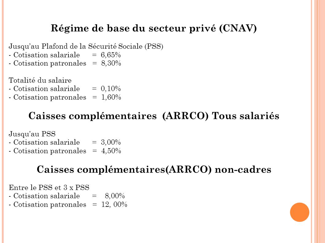 Le syst me de retraites par r partition ppt video online - Salaire plafond de la securite sociale ...