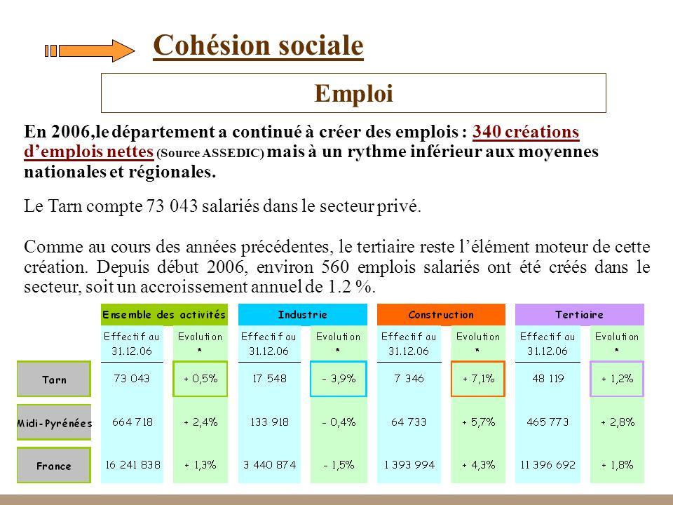 Cohésion sociale Emploi